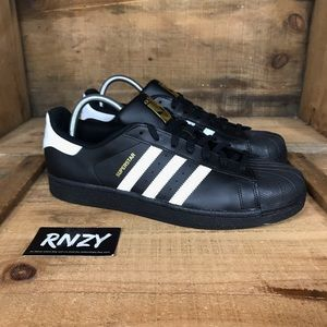 NEW Adidas Superstar Shell Toe Black White